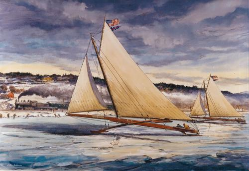 "Famous Iceboats ""Jack Frost"" and ""Icicle"""