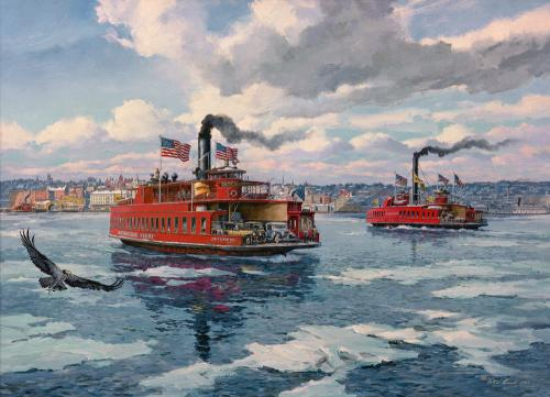 Newburgh Beacon Ferries - February 22, 1932